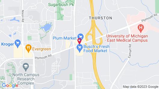 Red Roof Inn PLUS+ Ann Arbor - U of Michigan North Map