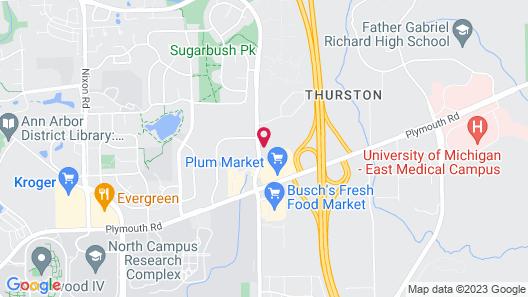 Hampton Inn Ann Arbor - North Map