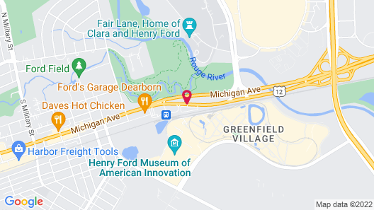 Comfort Inn Near Greenfield Village Map