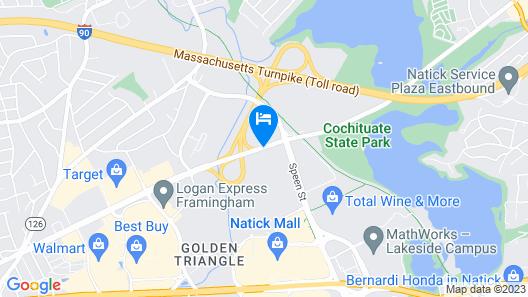 Red Roof Inn PLUS+ Boston - Framingham Map
