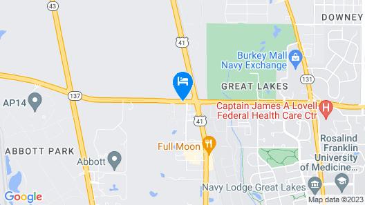 Red Carpet Inn Great Lakes Map