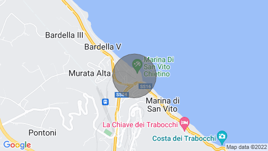 Beachfront Apartment Along the Suggestive Trabocchi Coast Map