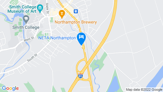 Quality Inn & Suites Northampton-Amherst Map