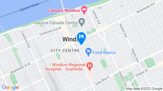 Quality Inn & Suites Downtown Map