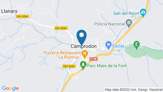 Hotel de Camprodon Map