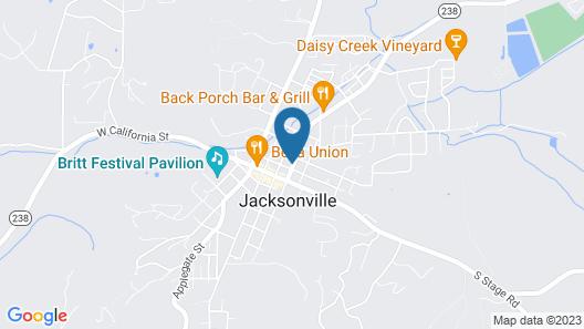 Jacksonville's Magnolia Inn Map