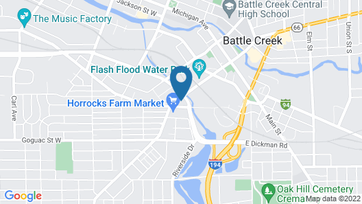 Econo Lodge Battle Creek Area Map