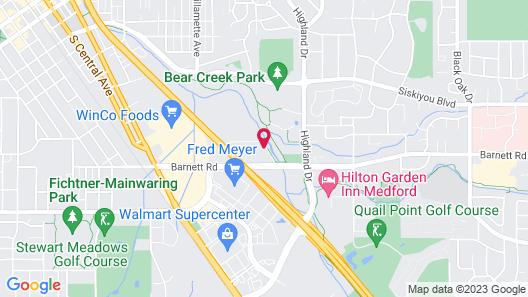 Motel 6 Medford, OR Map