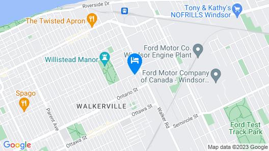 Ye Olde Walkerville Bed & Breakfast Map