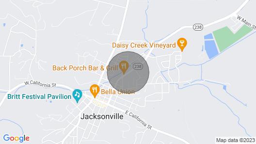 Charleen's Cottage IN Jacksonville Oregon Map