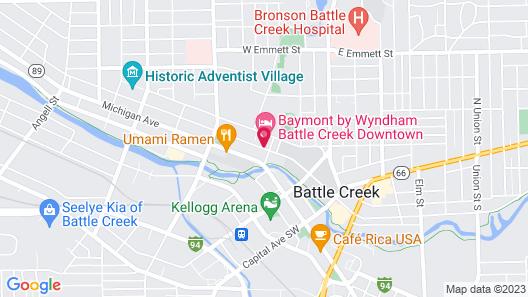 Baymont by Wyndham Battle Creek Downtown Map