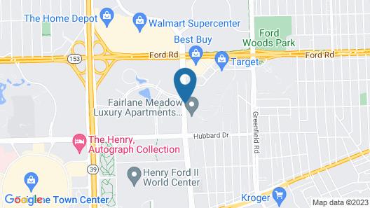 Courtyard by Marriott Detroit Dearborn Map