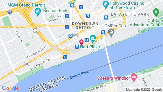 Fort Pontchartrain Detroit, a Wyndham Hotel Map