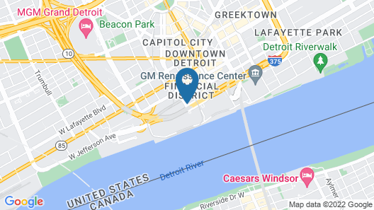 Hotel Pontchartrain Detroit By Bel Air Collection Map