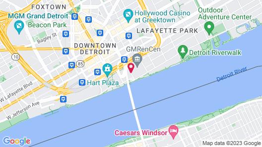 Detroit Marriott at the Renaissance Center Map