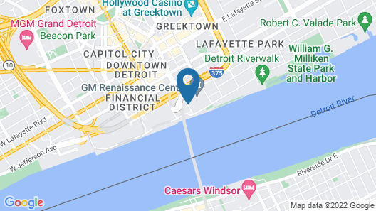 Detroit Marriott at the Renaissance Center Map
