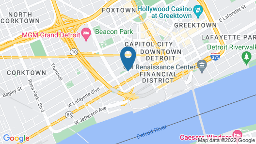 DoubleTree Suites by Hilton Detroit Downtown - Fort Shelby Map