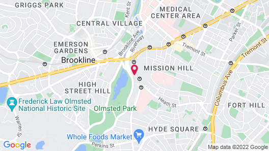 enVision Hotel Boston-Longwood, Ascend Hotel Collection Map