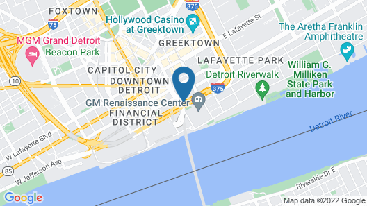 Courtyard By Marriott Detroit Downtown Map