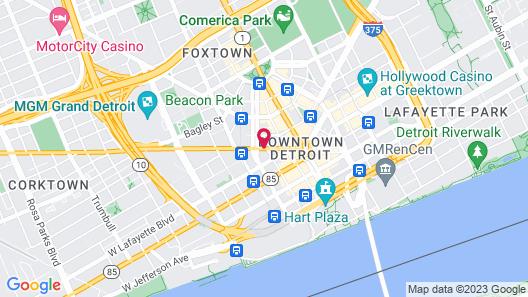 The Westin Book Cadillac Detroit Map