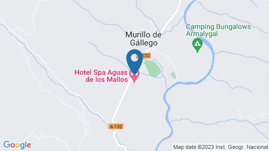 Spa Aguas de los Mallos Map