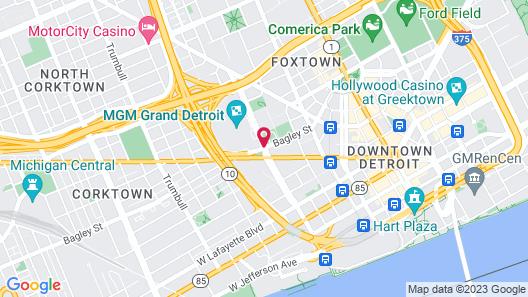MGM Grand Detroit Map