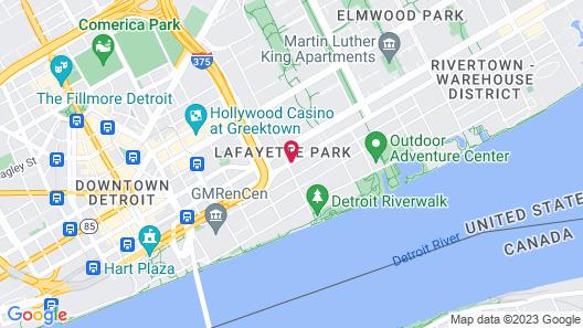 Rivertown Inn & Suites Downtown Detroit Map