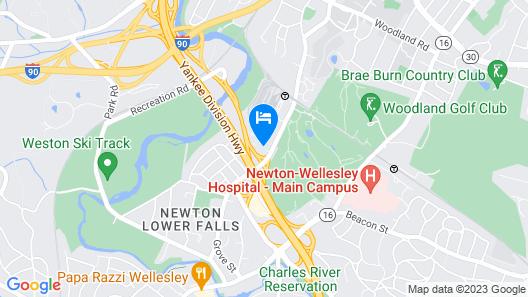 Hampton Inn Boston/natick Map