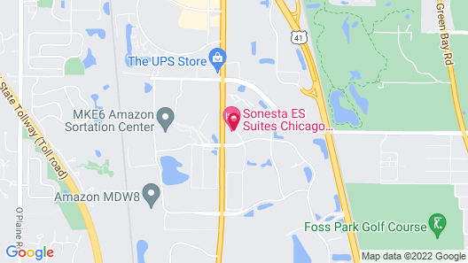 Sonesta ES Suites Chicago Waukegan Map