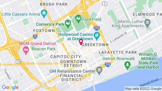 Hilton Garden Inn Detroit Downtown Map