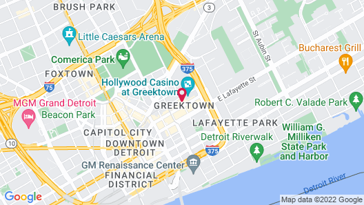 Greektown Casino Hotel Map