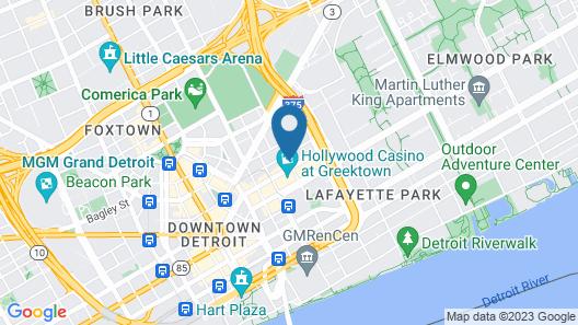 Greektown Casino Hotel Map