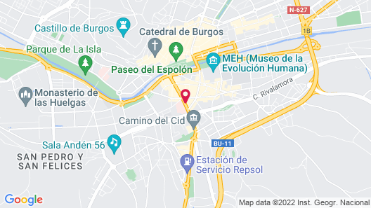 Hotel Sercotel Corona de Castilla Map