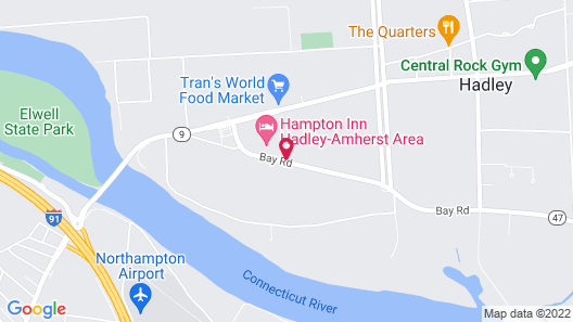 Hampton Inn Hadley-Amherst Area Map