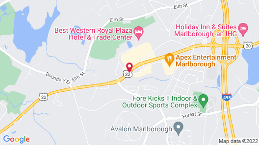 Hyatt Place Marlborough/Apex Center Map