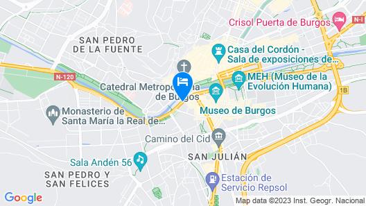NH Collection Palacio de Burgos Map
