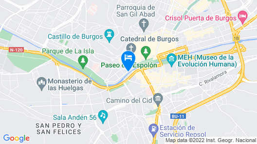 AC Hotel Burgos by Marriott Map