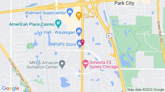 Sonesta Simply Suites Chicago Waukegan Map