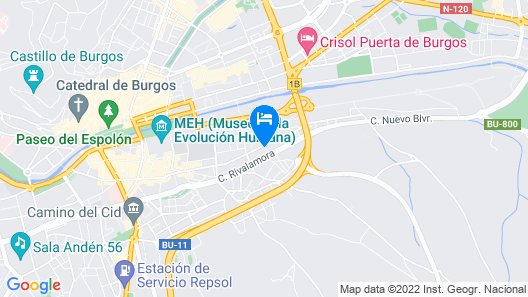 House With 4 Bedrooms in Burgos, With Wonderful City View and Terrace Map