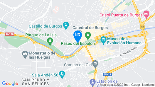 Apartamentos Turisticos Pueri Cantores Map