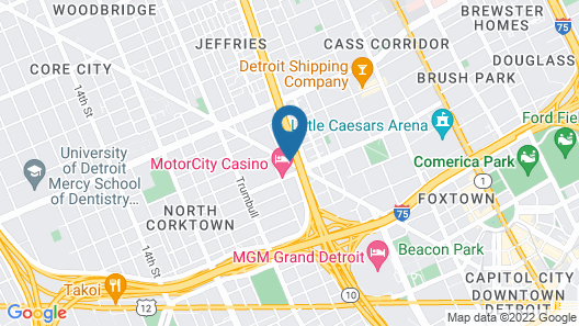 MotorCity Casino Hotel Map