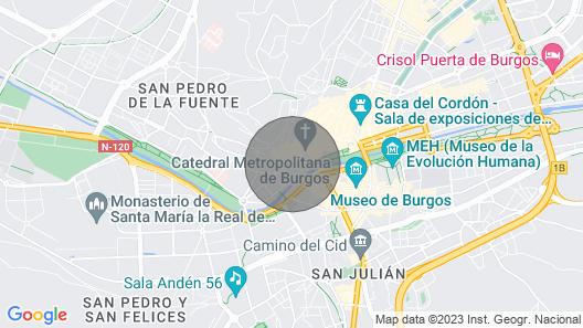 Tourist Apartment Next to Burgos Cathedral Map