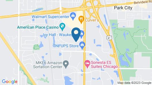 Holiday Inn Express & Suites Waukegan Map