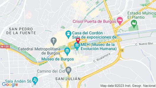 Hotel Silken Gran Teatro Burgos Map