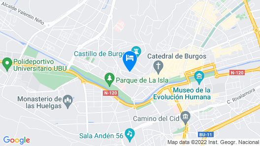 Abba Burgos Hotel 4*Superior Map