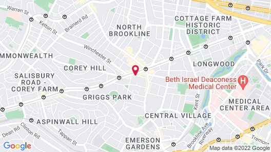 Courtyard by Marriott Boston Brookline Map