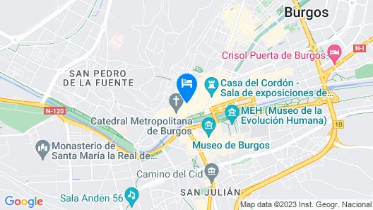 Alda Entrearcos Hotel Map
