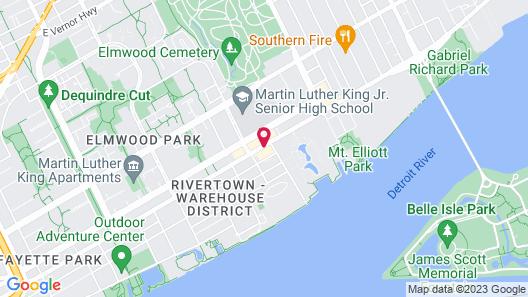Baymont by Wyndham Downtown Detroit Map