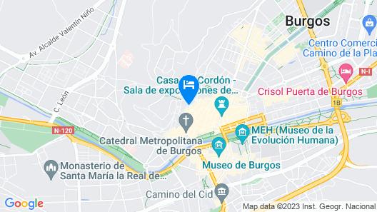 Apartamentos Burgos Centro - Hospital de los Ciegos Map