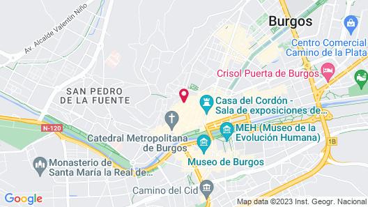 Hotel Rice Palacio de los Blasones Map